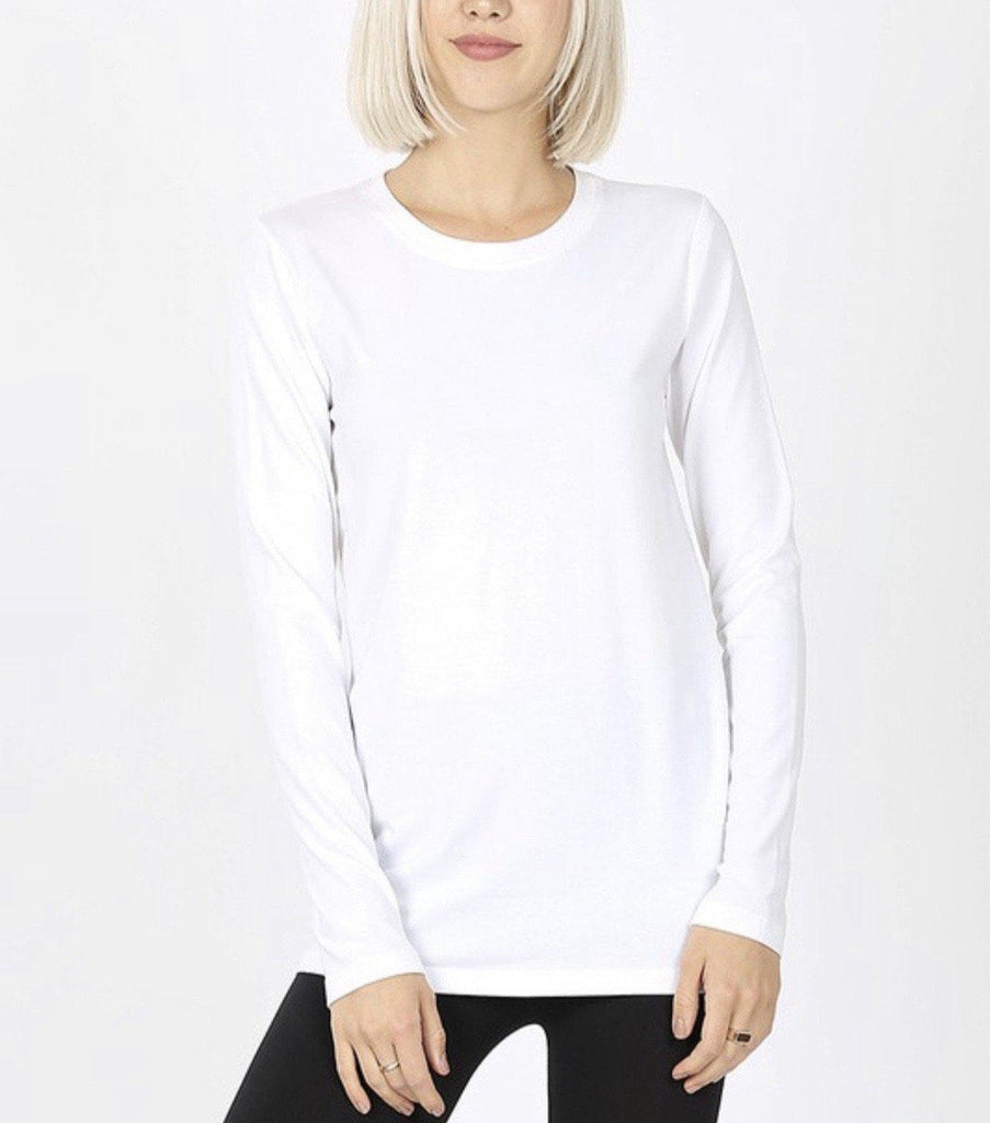 Basic long Sleeve- White