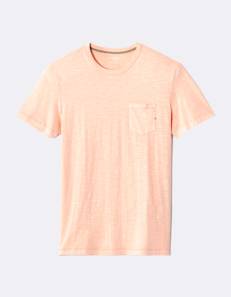 Playera cuello redondo mepocket rose pale