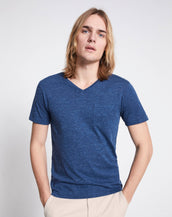 playera vebasic blue melangue