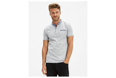 Polo Depetit optical gris chine