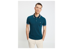 Polo NEAGERAY BLEU CANARD