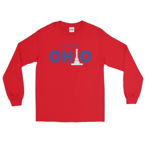 Huron, Ohio - Long Sleeve T-Shirt (Red)