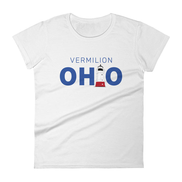 Women's Vermilion Ohio - Short Sleeve T-shirt (White)