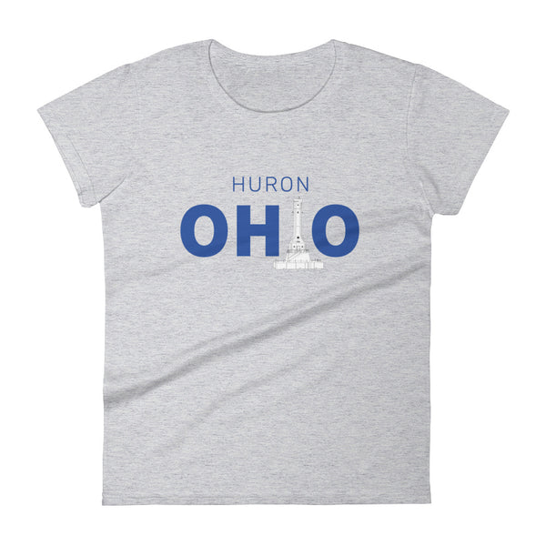 Women's Huron Ohio - Short Sleeve T-shirt (Grey)