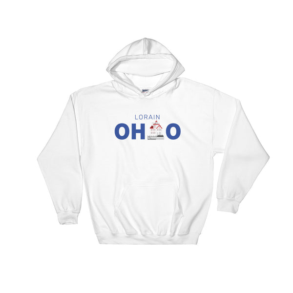 Lorain, Ohio - Hooded Sweatshirt (White)