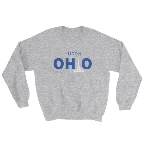 Men's Huron, Ohio - Crewneck Sweatshirt (Grey)