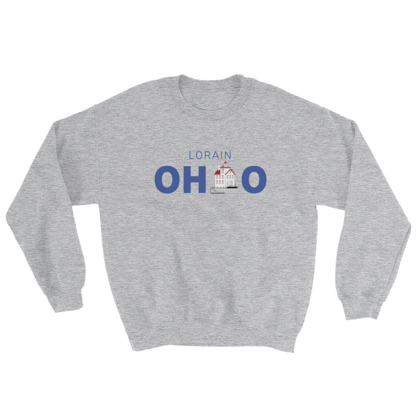 Lorain, Ohio - Crewneck Sweatshirt (Grey)