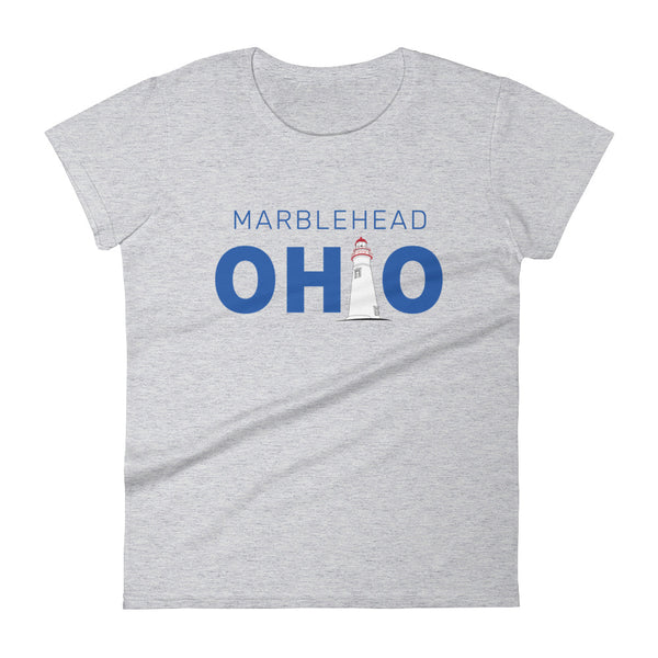 Women's Marblehead Ohio - Short Sleeve T-Shirt (Grey)