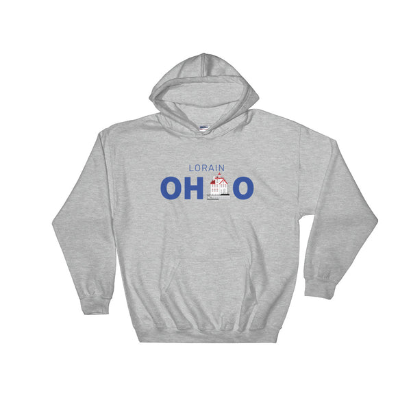 Lorain, Ohio - Hooded Sweatshirt (Grey)