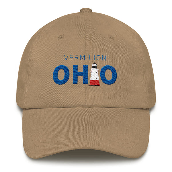 Vermilion, Ohio - embroidered hat (khaki)