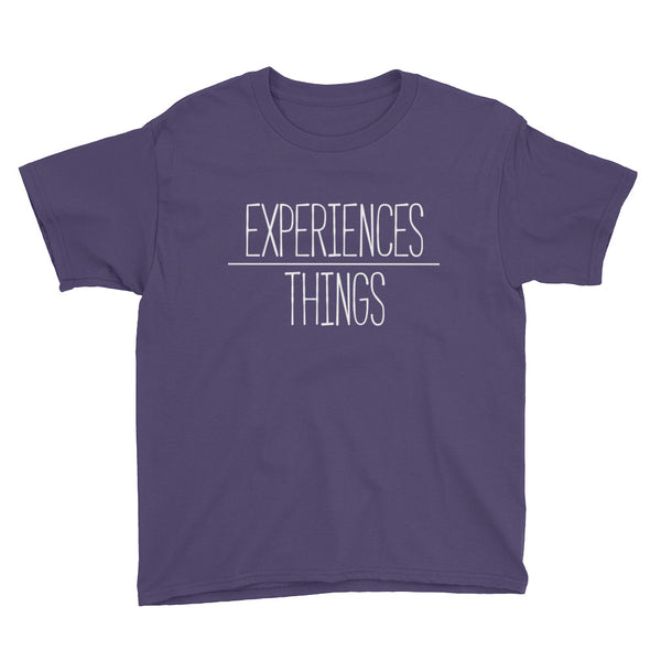Youth Experiences over Things - Short Sleeve T-Shirt (Purple)