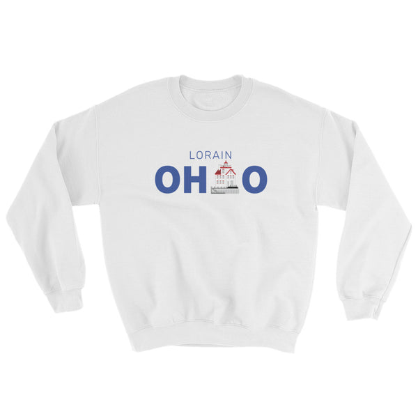 Lorain, Ohio - Crewneck Sweatshirt (White)
