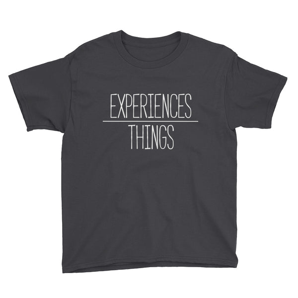 Youth Experiences over Things - Short Sleeve T-Shirt (Black)