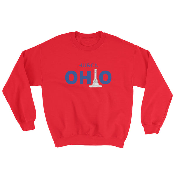 Huron, Ohio - Crewneck Sweatshirt (Red)