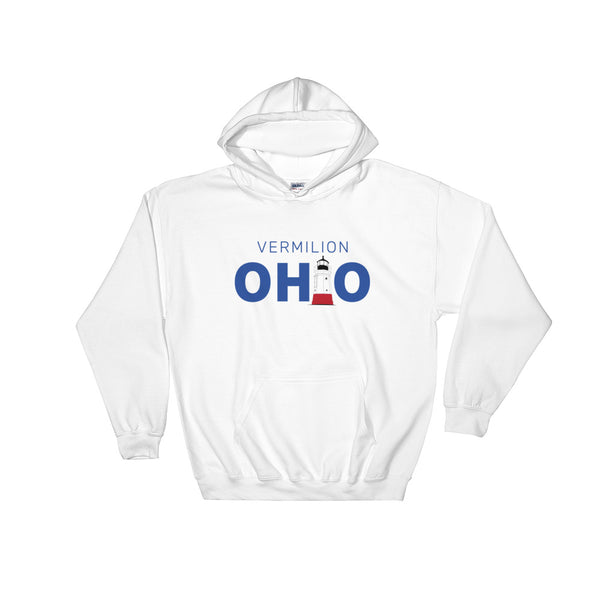 Vermilion, Ohio - Hooded Sweatshirt (White)