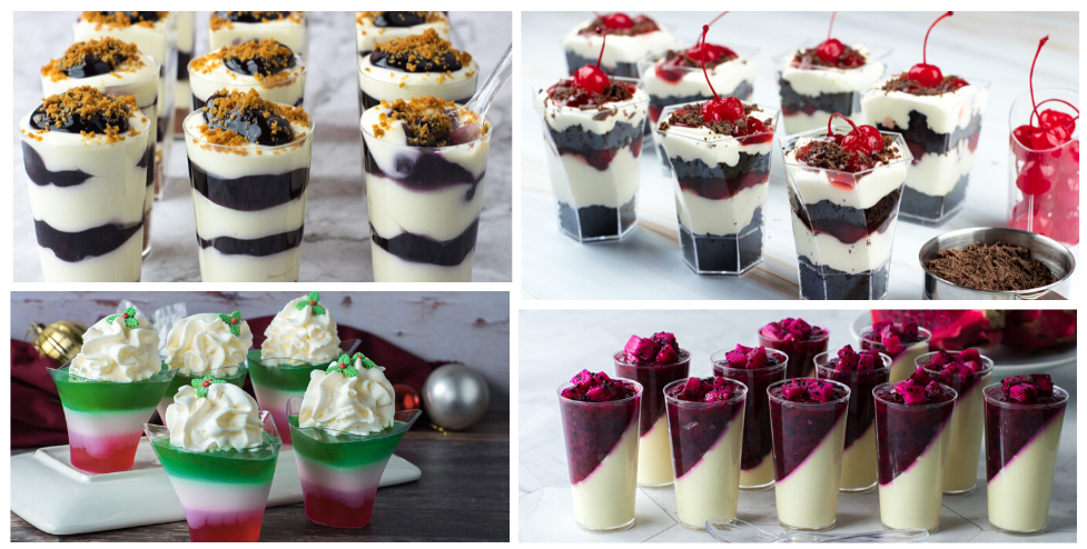 Easy No Bake Christmas Desserts in Mini Cups
