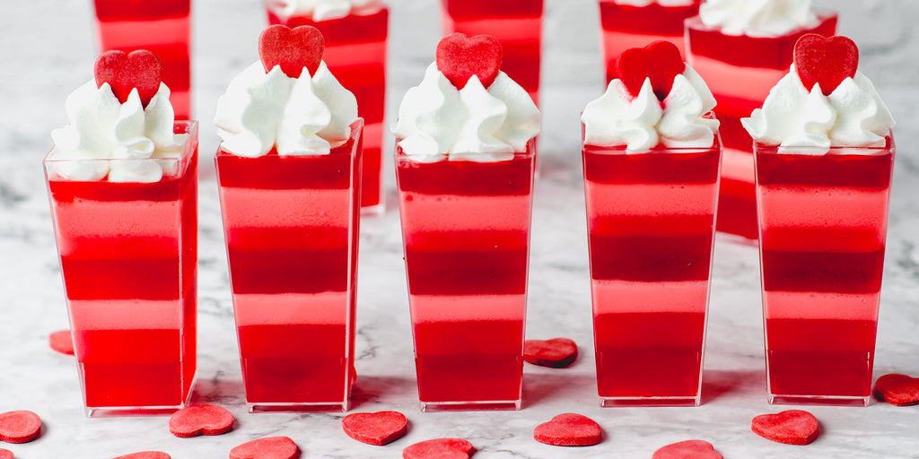 DLux Mini Dessert Cups Valentine's Day Layered Jello