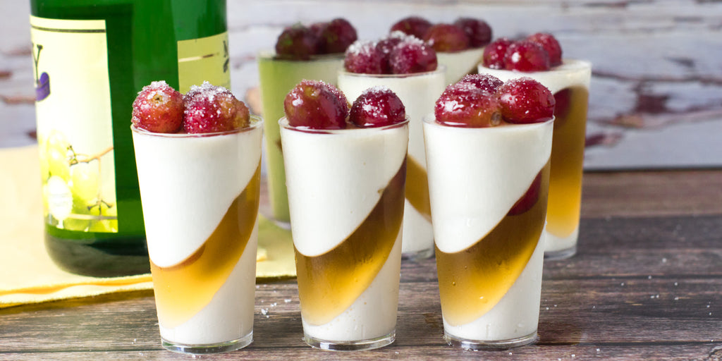 DLux Mini Dessert Cups New Year's Sparkling Wine Panna Cotta