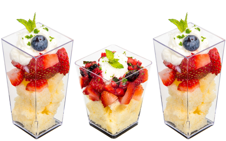 Deconstructed Strawberry Shortcake in Mini Cups - Super Easy Dessert!