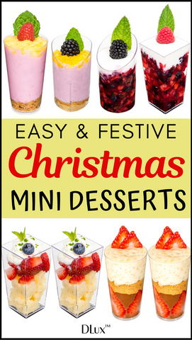 EASY FESTIVE CHRISTMAS DESSERTS IN MINI CUPS