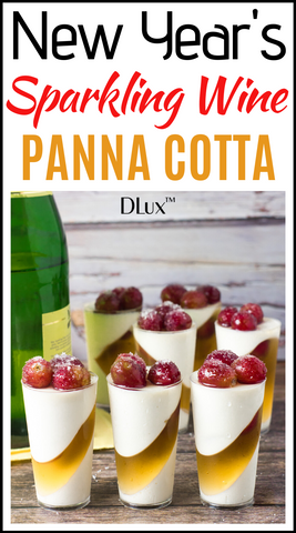 New Year's Sparkling Wine Panna Cotta Mini Dessert Cups