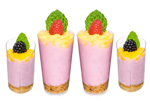 Raspberry Mango Mousse Parfait Mini Cups