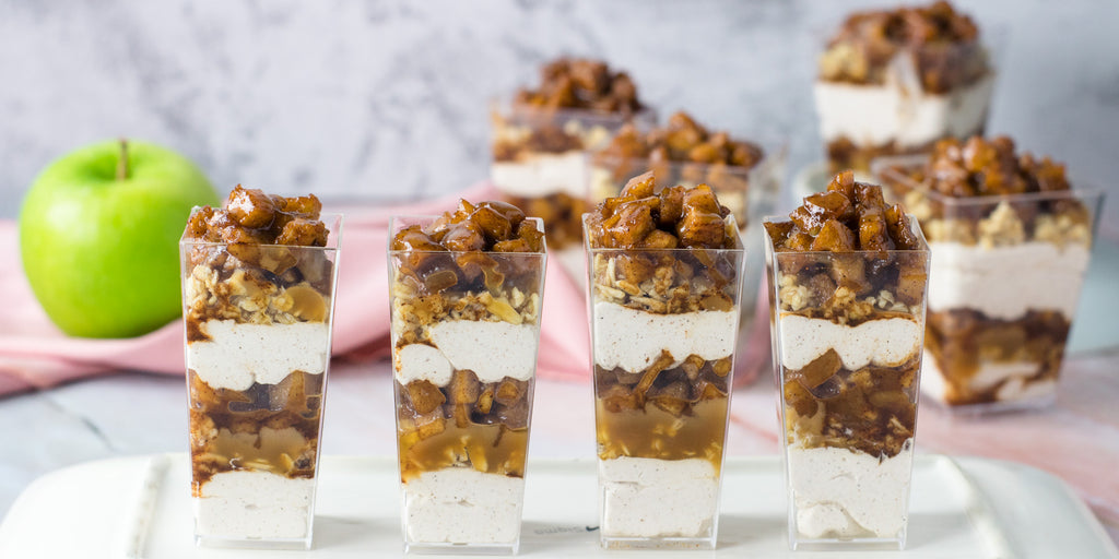 caramel apple trifles