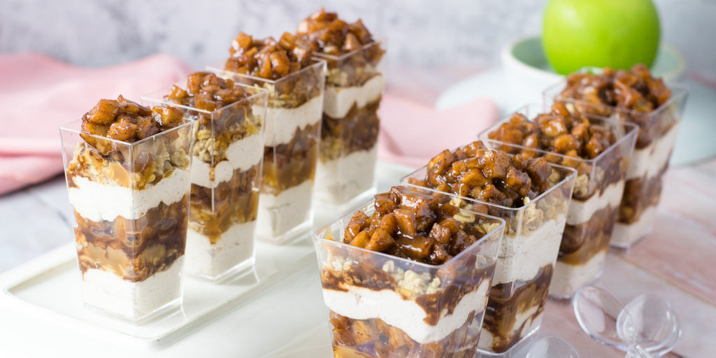 Caramel Apple Trifles in Mini Cups