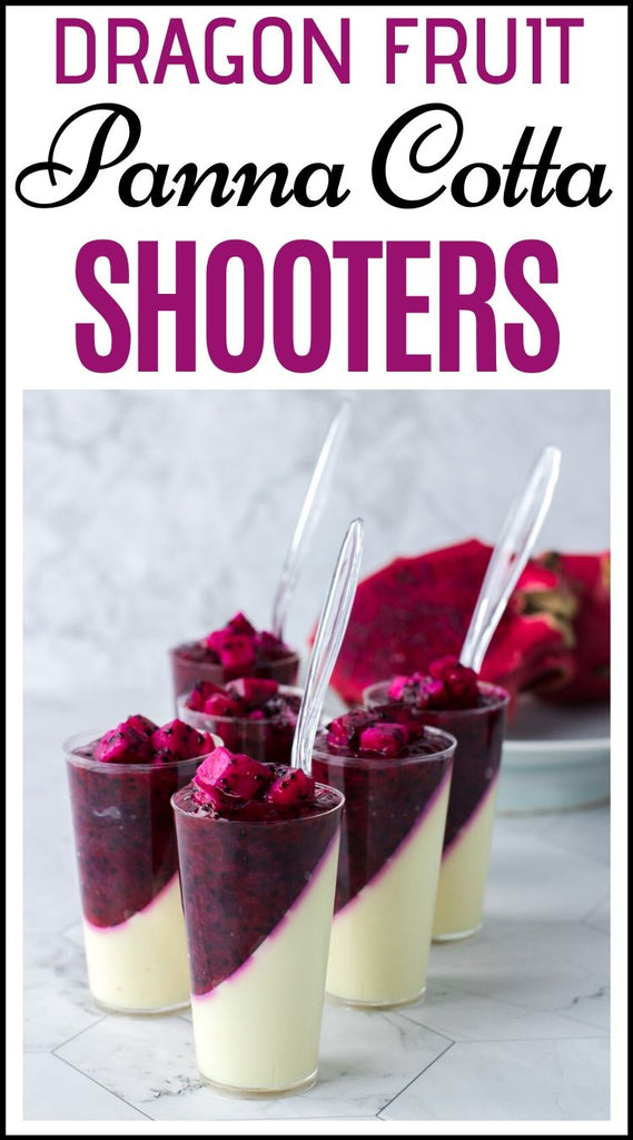 dragon fruit panna cotta shooters for parties
