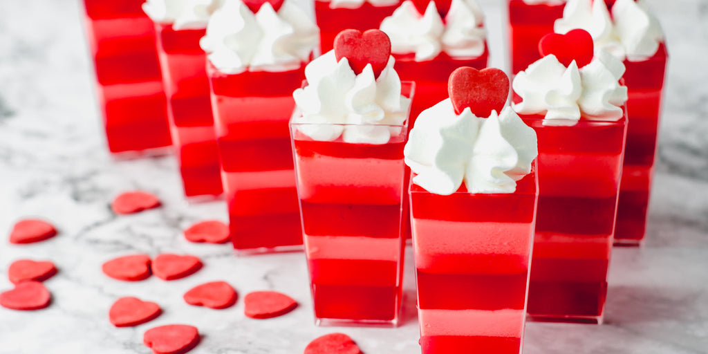 valentine's day layered jello