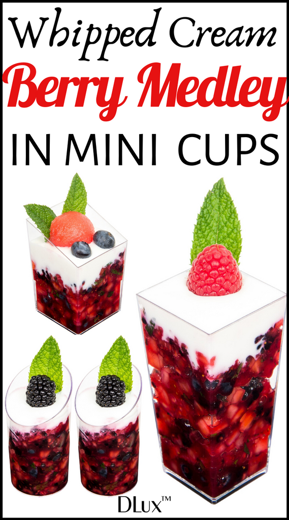 whipped cream berry medley in mini cups christmas dessert idea