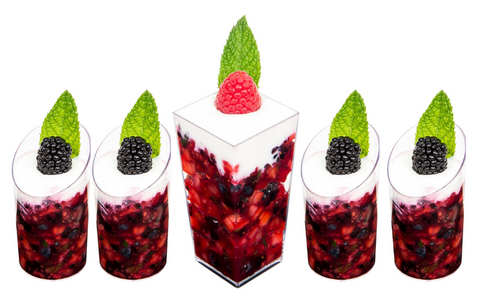 whipped cream berry medley in mini dessert cups