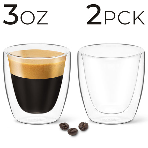 Image of 3 oz Espresso Coffee Cup - Pack of 2 - No Handle