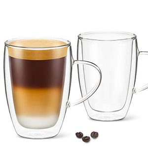 12 oz Latte Cup - Pack of 2 - With Handle
