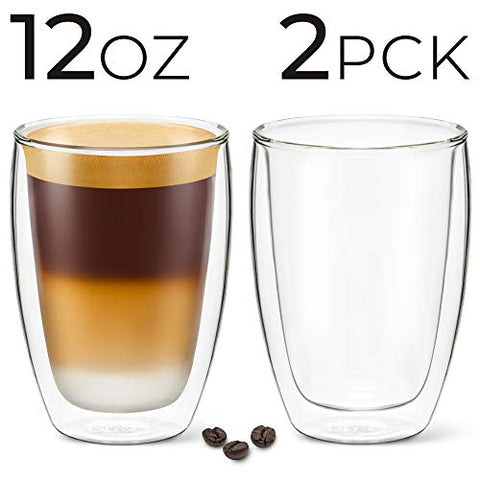 Image of 12 oz Latte Cup - Pack of 2 - No Handle