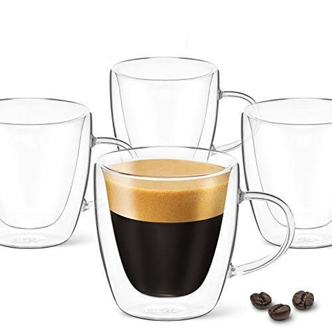 3 oz Espresso Coffee Cup - Pack of 4 - With Handle