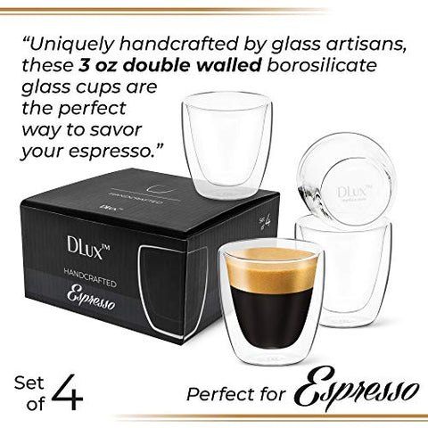 3 oz Espresso Coffee Cup - Pack of 4 - No Handle