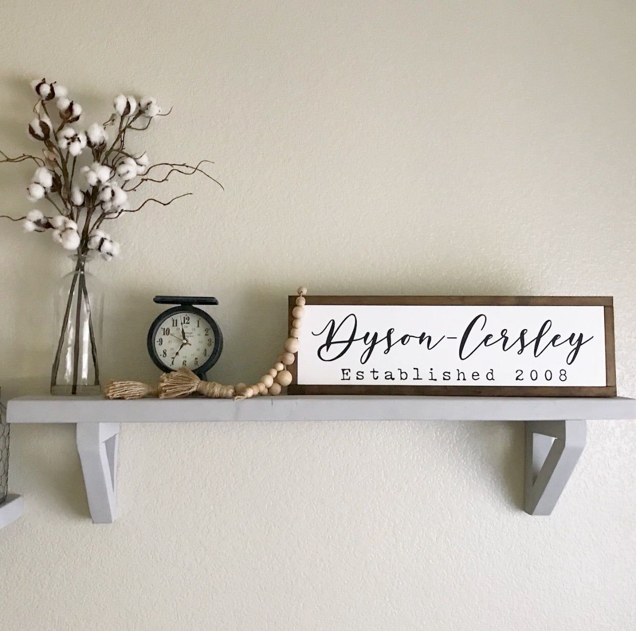 LAST NAME YEAR ESTABLISHED // FARMHOUSE STYLE WOOD SIGN