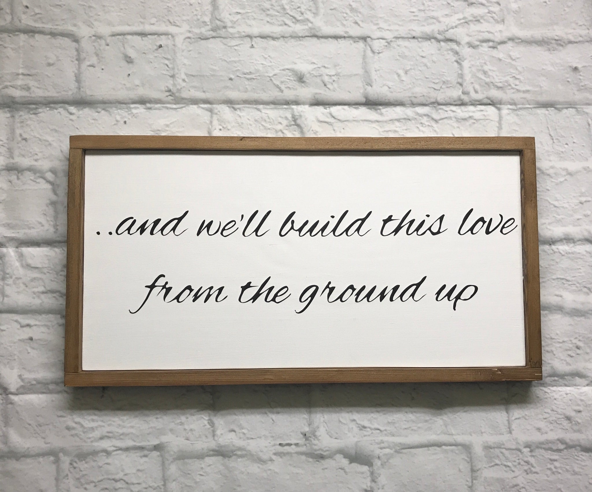 FROM THE GROUND UP // FARMHOUSE STYLE WOOD SIGN