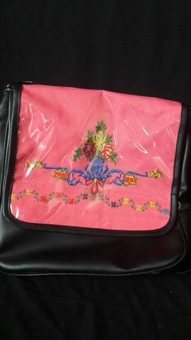 Large Bag Embroidered Women's Palestinian, 60 Year Old Cloth Folk Art Holy Land