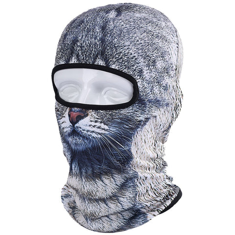 JIUSY 3D Animal Balaclava Face Mask Breathable Outdoor Sports Motorcycle Cycling Snowboard Hunting Ski Cat Dog