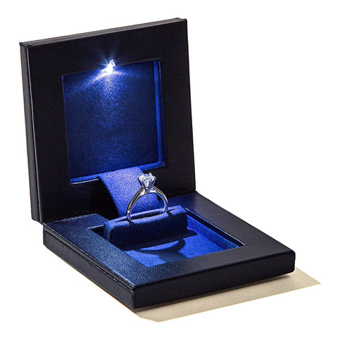 Parker Square Secret Night Box Light up LED, the World's Best Engagement Ring Box