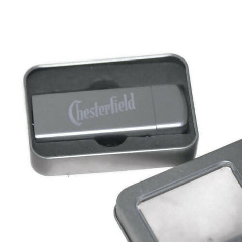 Cigarette Chesterfield Lighter Rechargeable USB Electronic with BOX metal