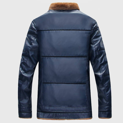 Plus Size 10XL Fur Lined Leather Jacket and Coats Brand Designer Mens Fur Leather Bomber Jackets Man Streetwear Cheap Price
