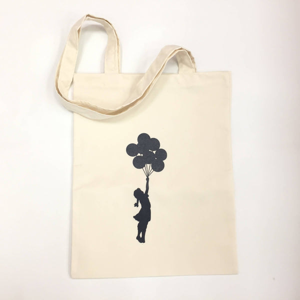 Banksy The Girl With The Balloons Tote Bag Shopping Palestine Souvenir Canvas Unisex Handbags