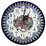 Jerusalem Clock Armenian Ceramic (large) 8.7