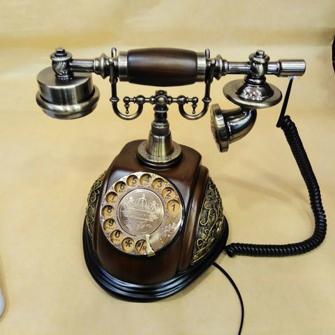Vintage Retro European Style Old Fashioned Rotary Dial Phone Handset Telephone