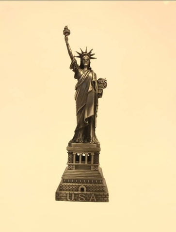 vintage statue of Liberty yellow copper 20cm ,