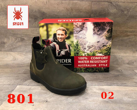 Spider Boots Waterproof Fashion Work Safety Australian Style Natural Cow Leather