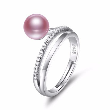 Pearl Ring 6 Color 925 Silver Ring